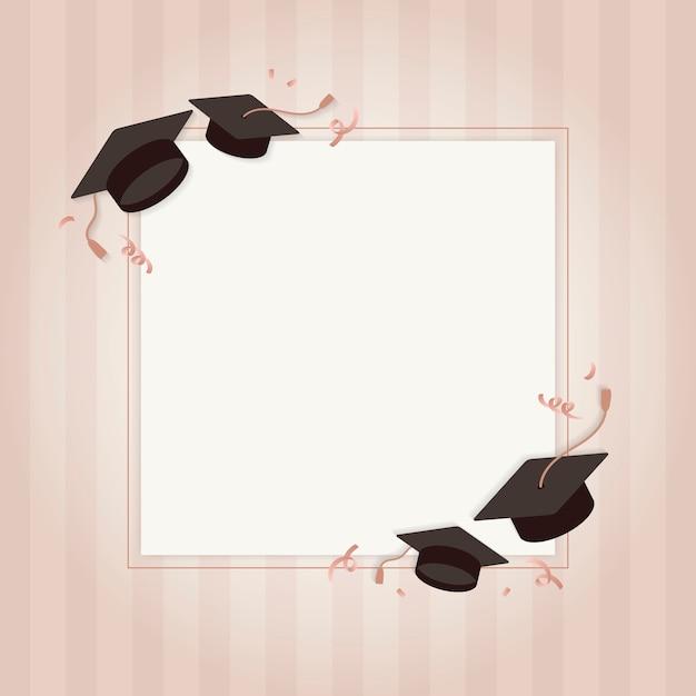 Carte De Voeux De Graduation Vecteur gratuit