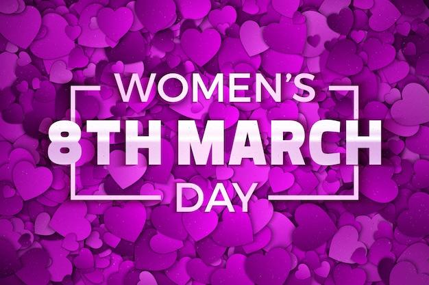 Carte De Voeux De La Journée De La Femme Du 8 Mars Vecteur Premium