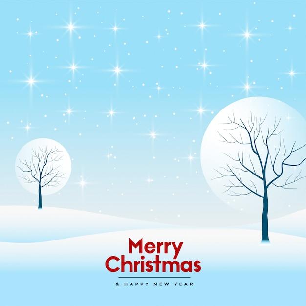 Carte De Voeux Joyeux Noël Et Bonne Année Vecteur gratuit