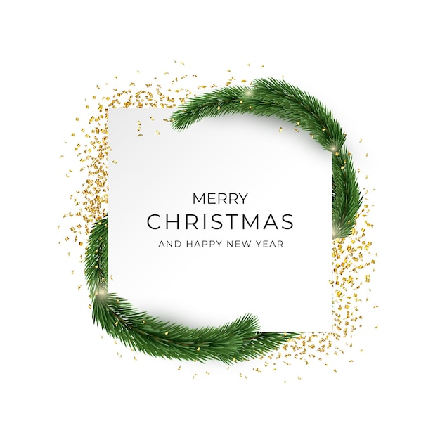 Carte De Voeux Joyeux Noël Et Bonne Année. Vecteur Premium