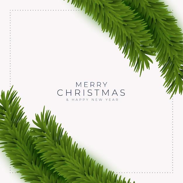 Carte De Voeux Joyeux Noël Et Nouvel An Avec Des Branches D'arbres Réalistes Vecteur gratuit