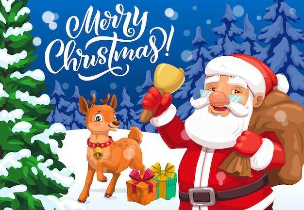 Noël Neige cloche-Rouge Avec Santa