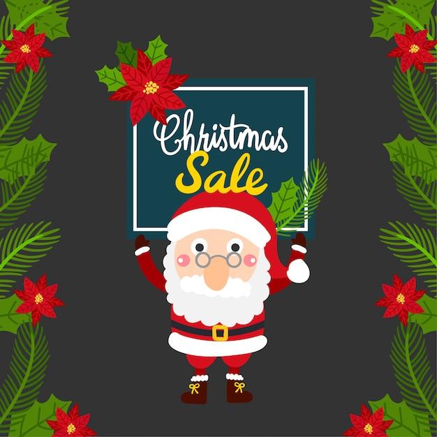 Carte De Voeux Joyeux Noël, Vente De Noël. | Vecteur Premium