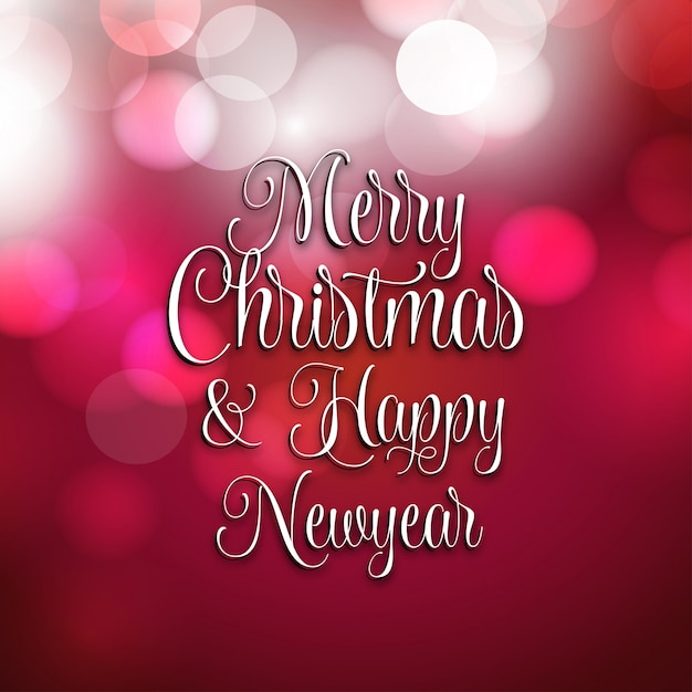 Carte De Voeux De Noël Et Du Nouvel An | Vecteur Premium