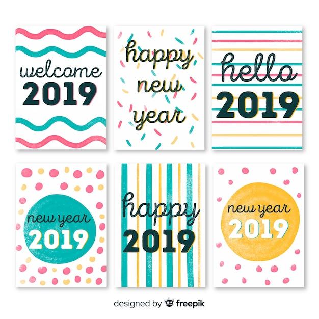 Carte De Voeux De La Nouvelle Année 2019 Télécharger Des