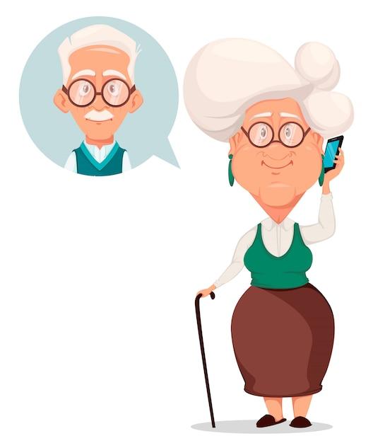 Carte de voeux pour la fête des grands-parents Vecteur Premium
