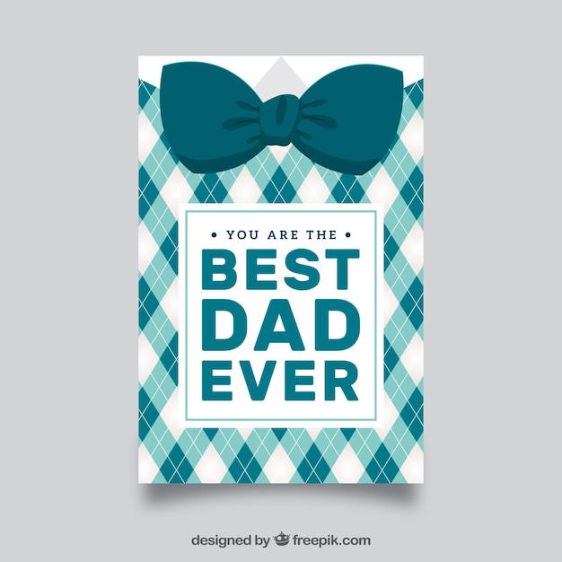 Carte de voeux pour les fêtes des pères avec cravate décorative Vecteur gratuit