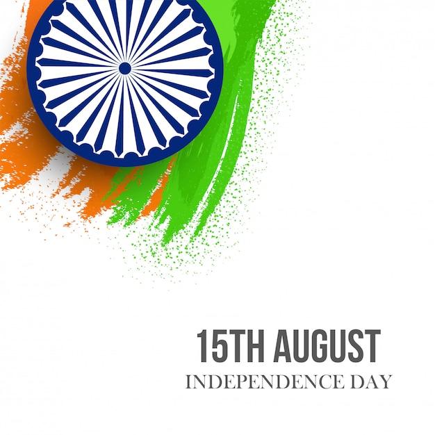 Carte de voeux pour le jour de l'indépendance de l'inde - 15 août Vecteur Premium