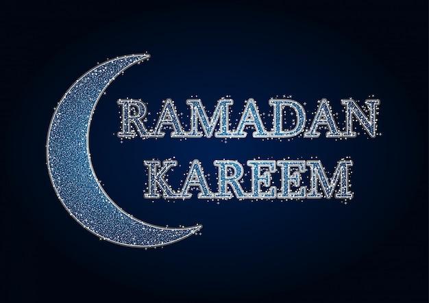 Carte de voeux ramadan kareem Vecteur Premium