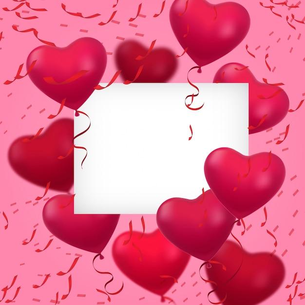 Carte De Voeux Saint Valentin | Vecteur Gratuite