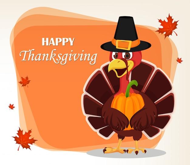 Carte de voeux de thanksgiving day Vecteur Premium