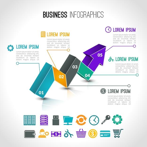 Cartes d'affaires infographiques Vecteur gratuit