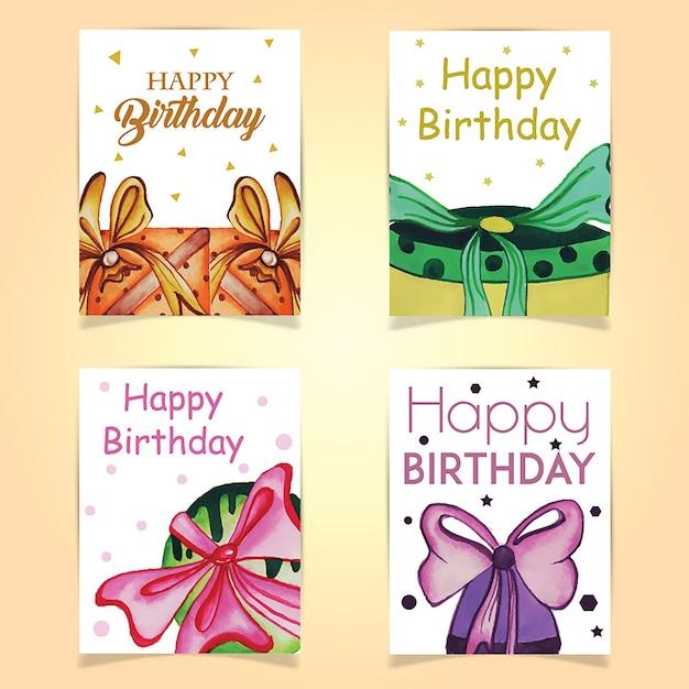 Cartes d'anniversaire Vecteur gratuit