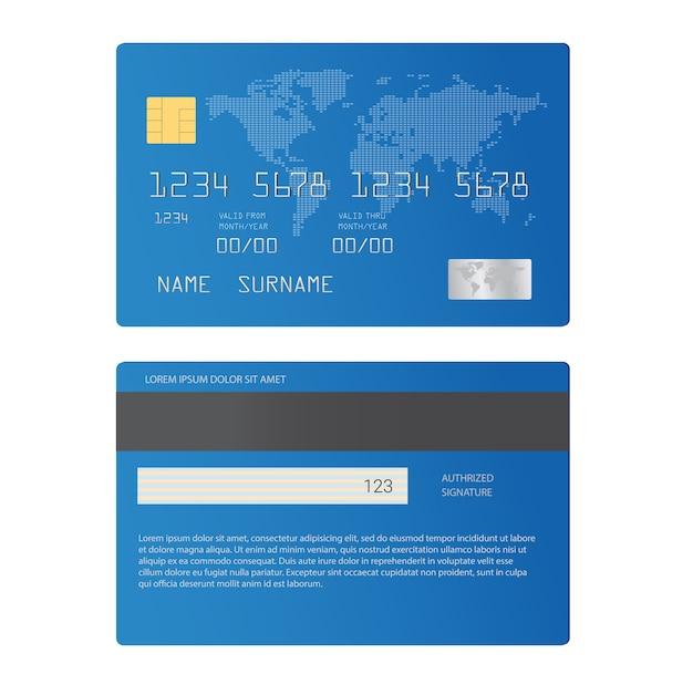 Cartes de crédit Vecteur Premium