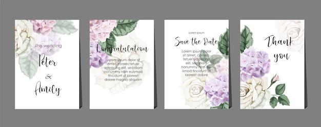Cartes florales Vecteur Premium