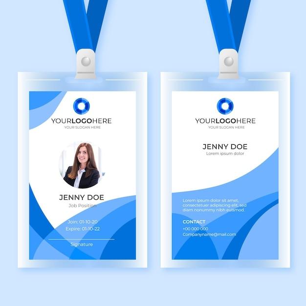 Cartes D'identité Abstraites Vecteur Premium