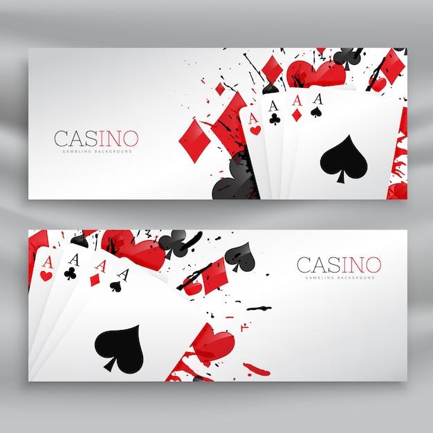 Cartes De Jeux De Casino Vecteur Premium