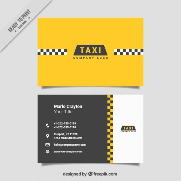 Cartes minimaliste pour un service de taxi Vecteur gratuit
