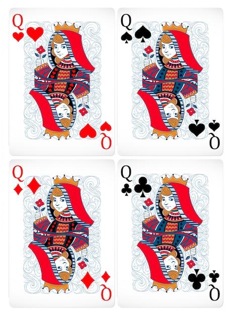 Cartes De Poker Vecteur gratuit