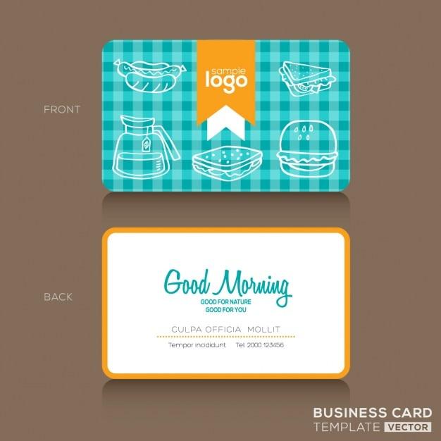 Cartes De Visite Modle Conception Pour Boulangerie Ou Un Caf