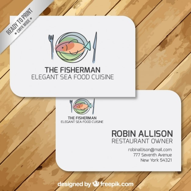 Cartes De Visite Dun Restaurant