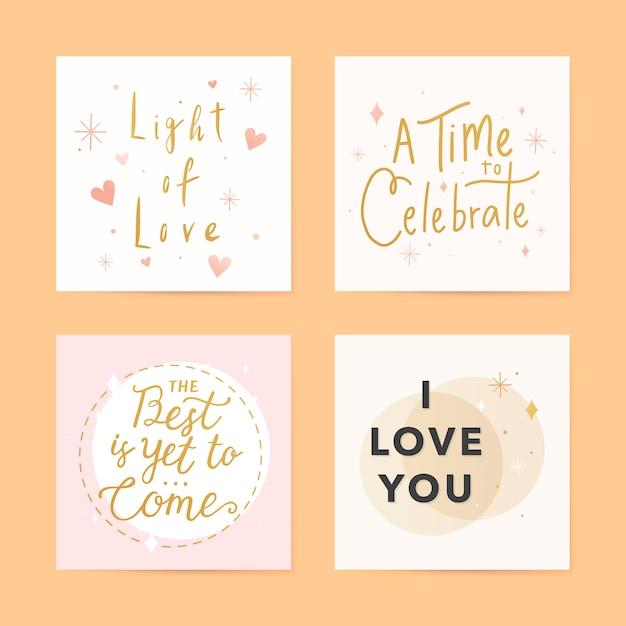 Cartes de vœux festives Vecteur gratuit