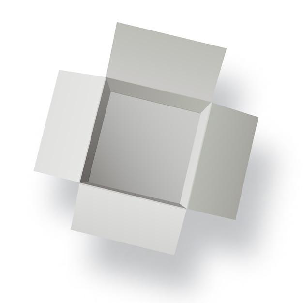 Carton ouvert Vecteur Premium