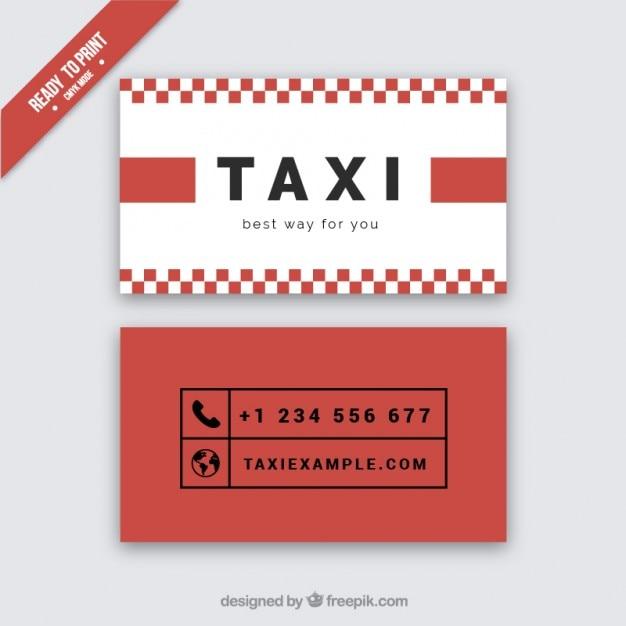 Carton rouge du chauffeur de taxi Vecteur gratuit