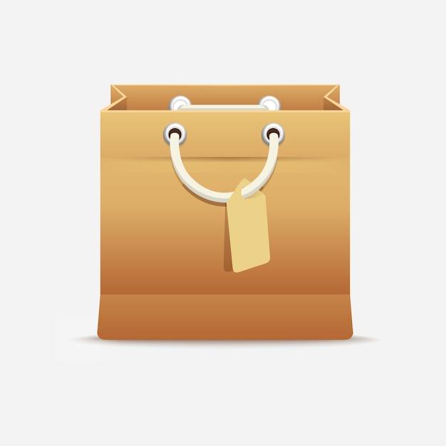 Carton sac shopping Vecteur Premium