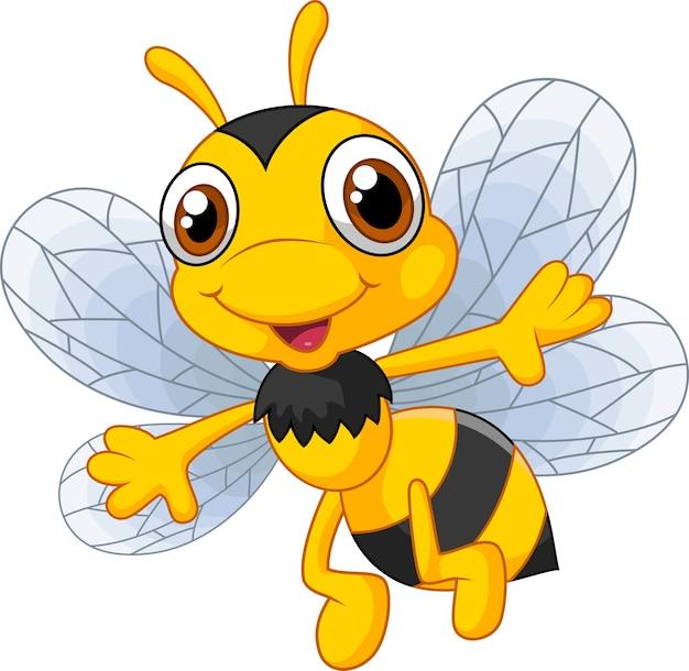 Cartoon abeilles mignonnes Vecteur Premium