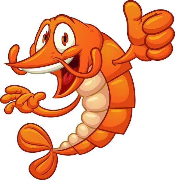 Cartoon_shrimp Vecteur Premium