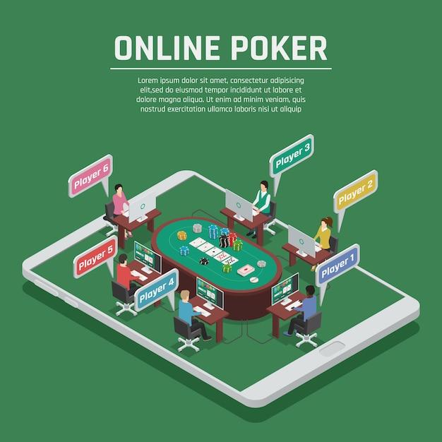 Casino en ligne Vecteur gratuit