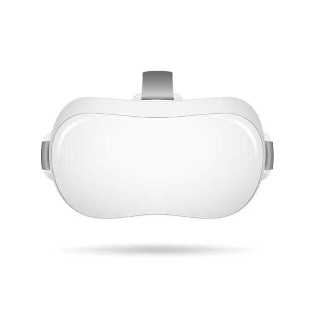 Casque de réalité virtuelle vr. lunettes de casque de réalité virtuelle réalistes Vecteur Premium