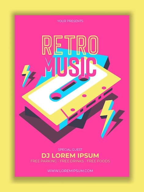 Cassette. Illustration Vectorielle, Logo. Fête Rétro. Vecteur gratuit