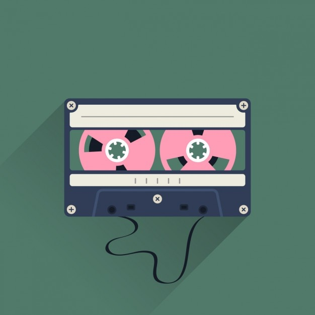Cassette vintage Vecteur gratuit