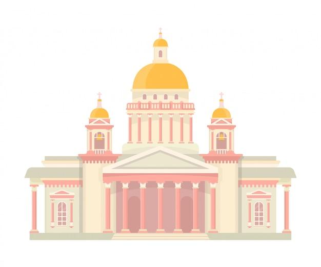 Cathédrale Saint-isaac Vecteur Premium