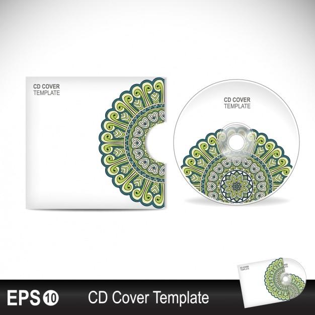 Cd cover design Vecteur gratuit