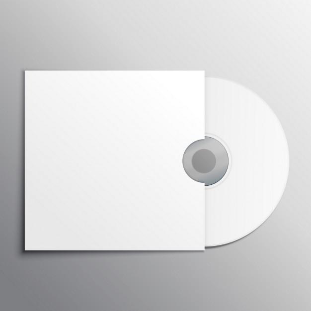 Cd dvd modèle de présentation de la maquette Vecteur gratuit