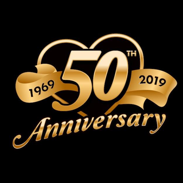 Célébration du 50ème anniversaire Vecteur Premium