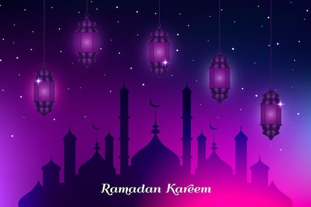 Célébration Du Ramadan De Conception Réaliste Vecteur gratuit