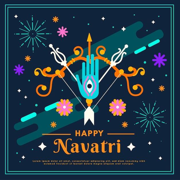 Célébration De L'événement Navratri Vecteur gratuit