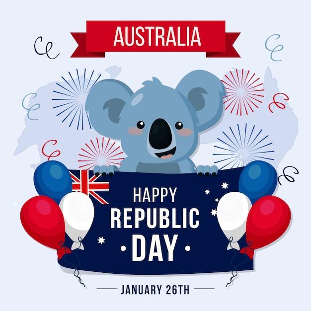 Célébration De La Journée Du Design Plat En Australie Vecteur gratuit