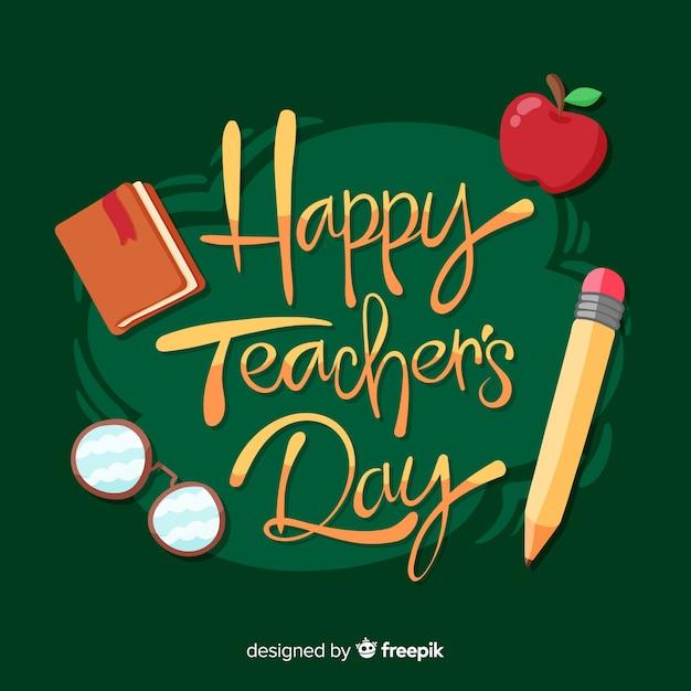 Célébration de la journée mondiale des enseignants Vecteur gratuit