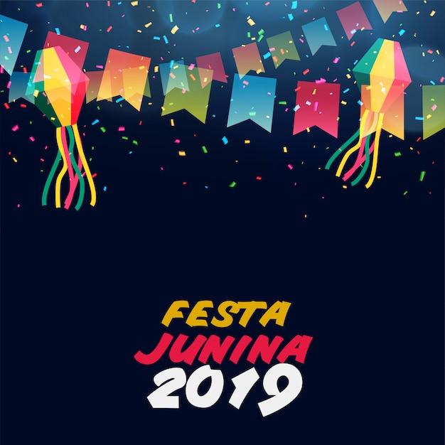 Célébration de la junina festa latino-américaine Vecteur gratuit