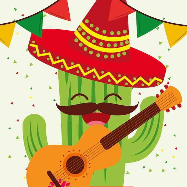 Célébration Viva Mexico Vecteur Premium