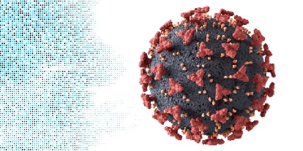 Cellule Détaillée Du Virus Corona Vecteur gratuit
