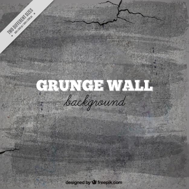 Cement wall background avec des fissures Vecteur gratuit