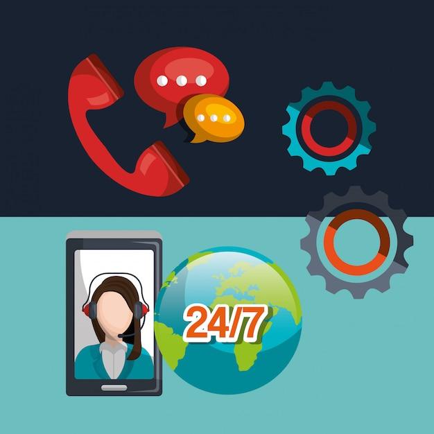 Centre d'appel Vecteur gratuit