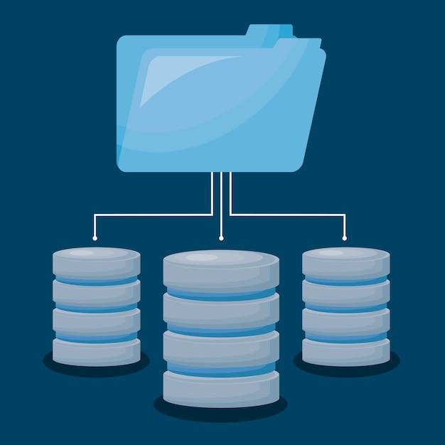 Centre de données Vecteur gratuit