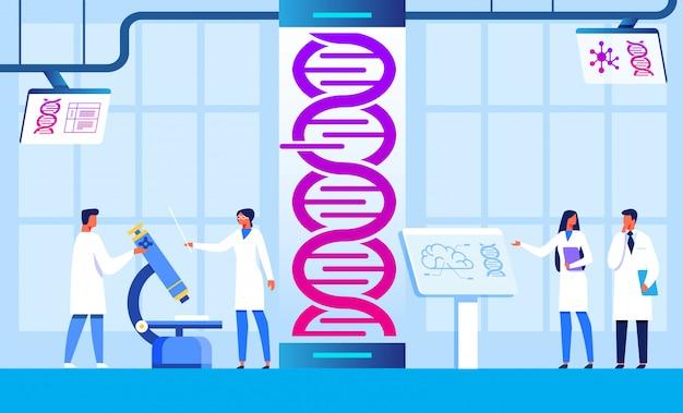Centre de génie génétique et de recherche scientifique Vecteur Premium